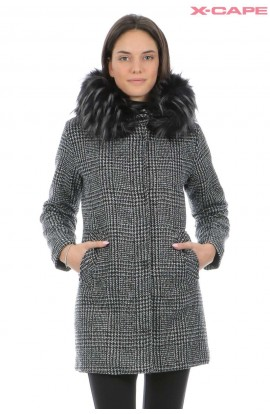 X-CAPE CAPPOTTO DONNA BEST FUR COLLO ECOPELLICCIA