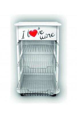 LUPIA - Carrello Portafrutta Multiuso White - I Love Wine