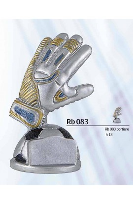 TROFEO RESINA GUANTO PORTIERE RB083