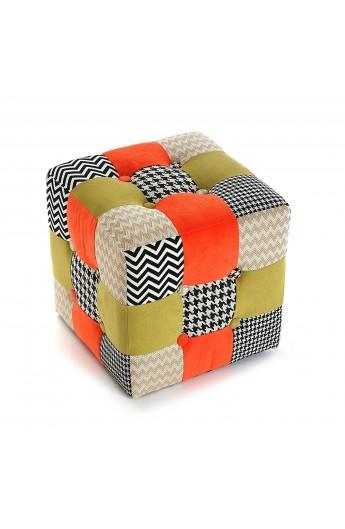 Pouf sgabello cube patchwork for Arredo casa oggettistica