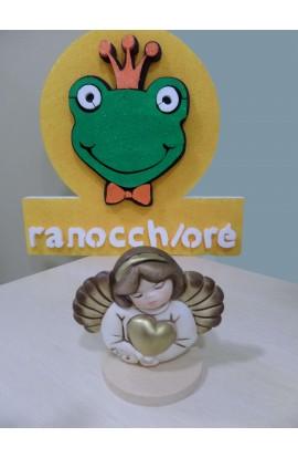 RANOCCHIORE' BASE PORTACENDELA ANGELO CON CUORE BO413